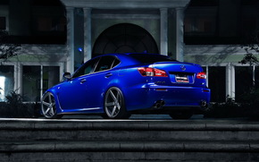 blue, Lexus, night, stairs, home, lexus