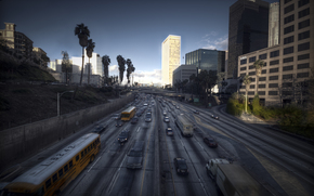 Los Angeles, Ville, paysage, Californie
