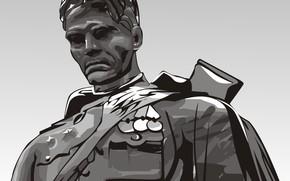 vetor, soldado, monumento
