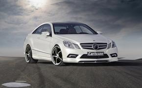 тюнинг, облака, дорога, Mercedes