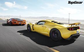 Top Gear, Top Gear, lo show televisivo pi, supercar, strada, Montagne, cielo, supercar
