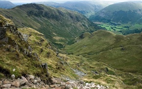 холмы, природа, горы