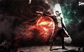 Dante, sword, Guns, cloak, fire, portal