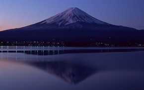 Fuji, evening, Lights