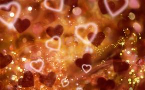 сверкать, сердца, День святого Валентина, любовь, День Валентина, сердце, фары, романтический