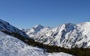 paesaggi, Montagne, astrazione, stile, Capodanno, natura
