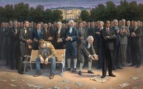 prizident, Amrica, Abraham Lincoln, Barack Obama, Washington, De la Casa Blanca, DzhonKennedi, Bill Clinton