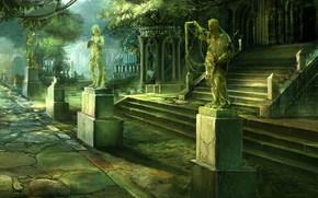 citt, palazzo, Statue
