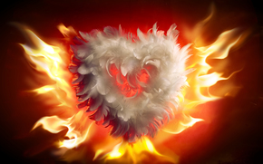 fuoco, fiamma, cuore, amore