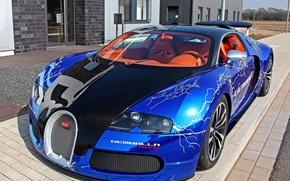 car, bugatti, lights, Wheel, blue, cars, machinery, Car