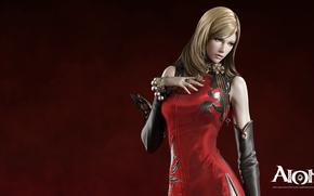 Rendering, ragazza, vestito rosso, Elios