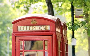 London, phone booth, England, urban
