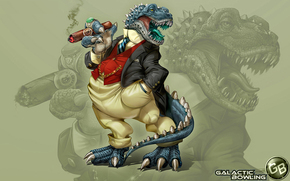 dragon, cool dragon, in costume, in a tie, with a cigar in his paw, gangster, grinning, growls