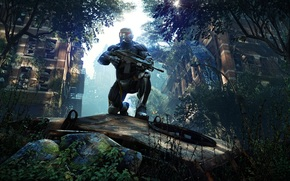 crysis March 2013 Mr., crysis 3, game, pc, Warrior, robot, onion, weapon