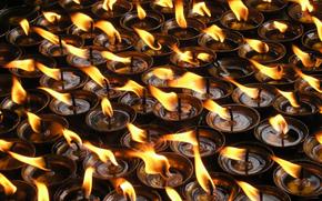 свечи, огонь, красиво, романтично