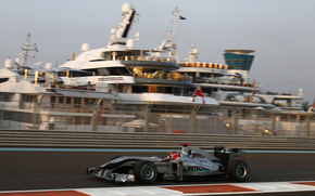 Mercedes GP, Michael Schumacher, Yas Marina circuit