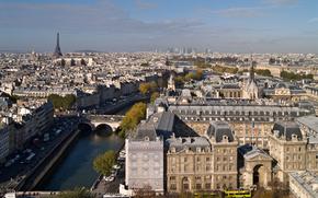 Париж, Эйфелева башня, река Сена, город