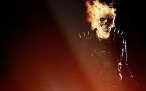 призрачный гонщик, огонь, череп, куртка, чёрная, фильм, фильмы, кино