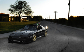 Toyota, supra, front end, Tuning, Street, sun, highlight, toyota