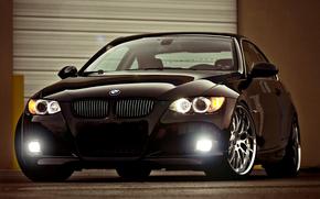 BMW, Black, highlight, bmw