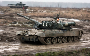 MBT, tank, dirt, Russian Armed Forces