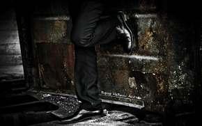 ноги, туфли, железо.