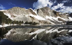горы, вода, небо, красиво