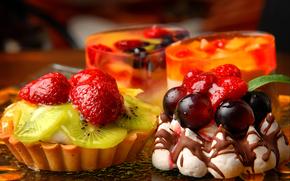 пирожное, сладкое, десерт, еда