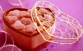 конфеты, сладости, Валентинка, День Святого Валентина, подарок, сердце, сердечки, праздник