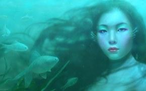 ragazza, fantasia, Asiatico