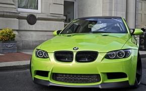 Авто, Машины, Тюнинг, Дом, Стена, Зеленый, BMW