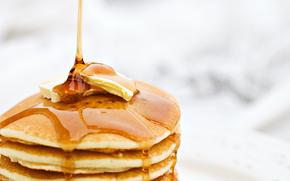 блины, масленица, масло, мёд, еда
