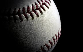 pika, baseball, szew