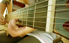 guitar, Strings, finger, music