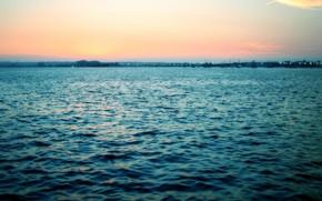 море, волны, восход