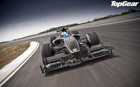 Top Gear, Top Gear, la mejor demostracin de la TV y la revista, coche de carreras, frente, rastrear, cielo, Supercars