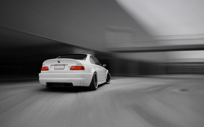 BMW, m3, E46, Coupe, color blanco