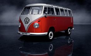 vw, Volkswagen, typ2t1, sambabus