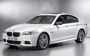 бмв, пятой серии, седан, передок, белый, дизель, BMW