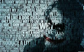 Joker, Batman, Text, Inschrift