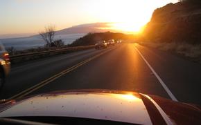 рассвет фото машины