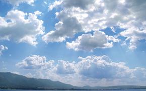 небо, облака, чувство полёта, море, отдых