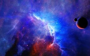 地球, 卫星, 星云, 明星