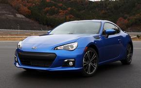 Auto, Subaru, blu, Subaru