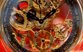 часы, стрелки, механизм