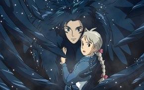Anime, Howl Moving Castle, Schleppen, Sophie, Hayao Miyazaki