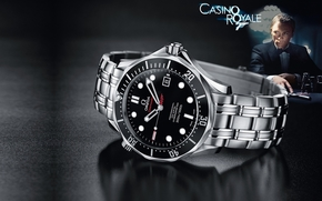 omega, seamaster, guardare, film, Casino Royale, James Bond, Macro
