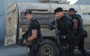 The Expendables 2, The Expendables 2, Sylvester Stallone, Sylvester Stallone, Barney Ross, Jason Staten, Jason Statham, Lee Christmas, Terry Crews, Terry Crews, Hale Caesar, Soldiers, weapon, machines, film, Movies, movie