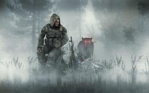 stalker, tramp, fog