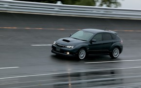 Subaru, Impreza, mquina, carretilla, coche, Japn, negro, velocidad, carretera, Papel pintado, Subaru